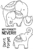 Woodware - Elephant Love - Clear Magic Stamp Set - JGS583